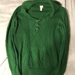 Lane Bryant Sweaters - Lane Bryant Green Cable Sweater